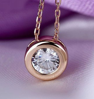 Simple Round Rose Gold Crystal Pendant TruFlair Online Boutique