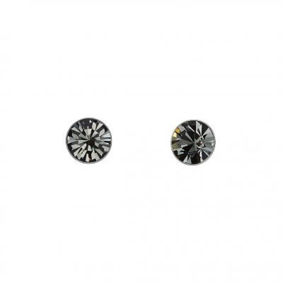 Black Swarovski Elements Crystal Stud Earrings White Gold Plated Sterling Silver TruFlair Online Boutique