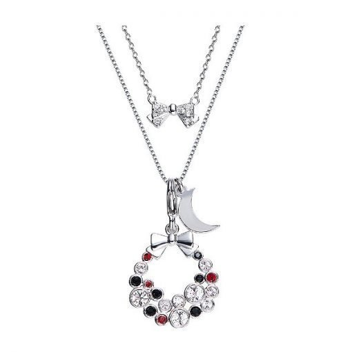 Double Layered Swarovski Crystals Necklace Platinum Plated Copper TruFlair Online Boutique