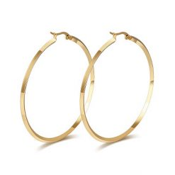 Edged Hoop Earrings Gold Plated Titanium TruFlair Online Boutique