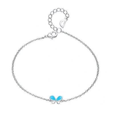 Enamel Butterfly Bracelet Platinum Plated Alloy TruFlair Online Boutique
