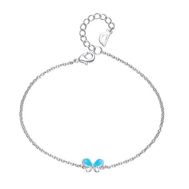 Enamel Butterfly Bracelet Platinum Plated Alloy TruFlair Online Boutique