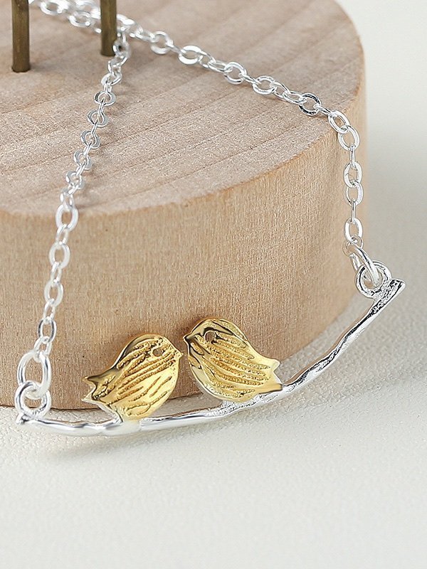 Love Birds Necklace, Sterling Silver TruFlair