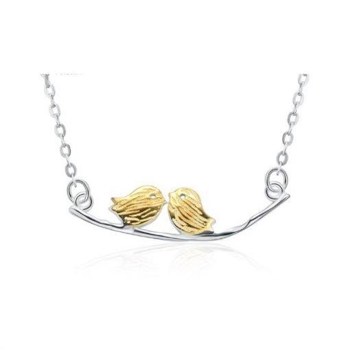 Love Birds Necklace Sterling Silver TruFlair Online Boutique