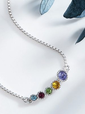 Multi Coloured Swarovski Elements Crystals Bracelet Platinum Plated Sterling Silver TruFlair Online Boutique