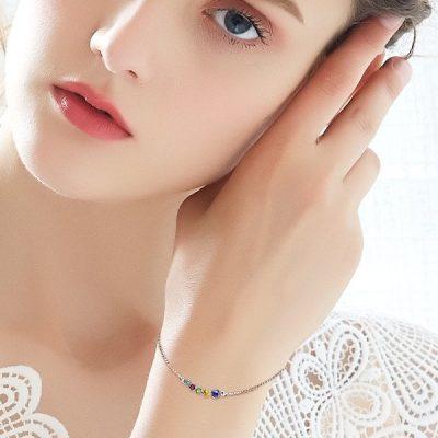 Multi Coloured Swarovski Elements Crystals Bracelet Platinum Plated Sterling Silver TruFlair Online Boutique
