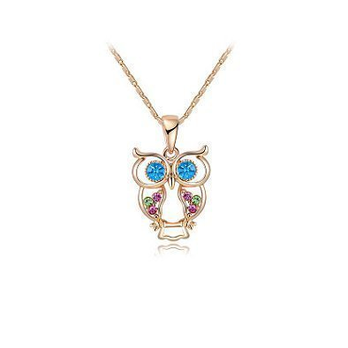 Multi Coloured Austria Crystals Pendant Rose Gold Plated TruFlair Online Boutique
