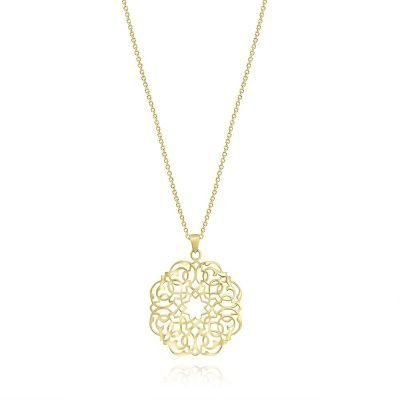 Infinity Persian Geometry Necklace Gold Plated Sterling Silver TruFlair Online Boutique