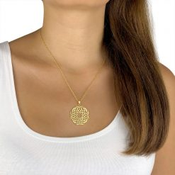 Infinity Persian Geometry Necklace Gold Plated Brass TruFlair Online Boutique