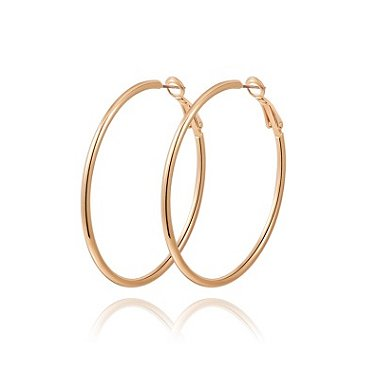 Large Hoop Earrings Rose Gold Plated Alloy TruFlair Online Boutique