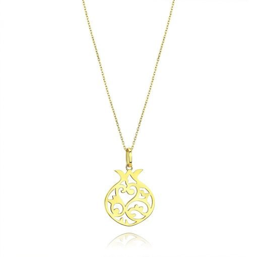 Pomegranate 18k Gold Plated Silver Pendant TruFlair Online Boutique