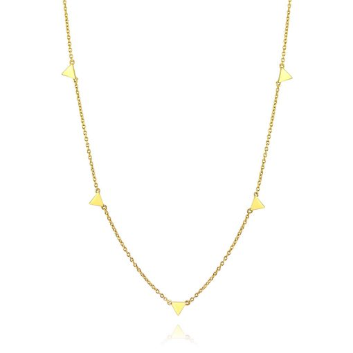 Triangle Confetti Choker 18k Gold Plated Sterling Silver TruFlair Online Boutique